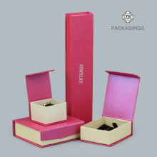 Luxury+pink+flip-top+foldable+jewelry+sets+box