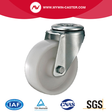 Bolt Hole PP Swivel Caster Industrial