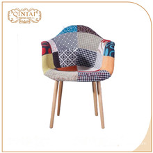 china wood legs fabric surface reception chair