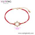 75548 Xuping Venda Quente popular Mulheres banhado a ouro projeto original corda vermelha Estrela forma Pulseira