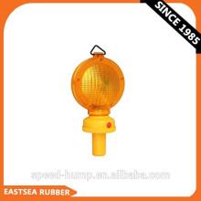 Luz de advertencia de barricada de tráfico con destellos a batería de linterna LED 6