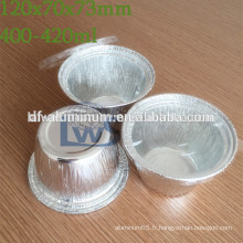 Tasses à cuire en aluminium jetables, coupe rapide en aluminium