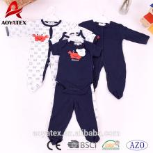100% ropa de bebé de algodón Precioso bebé niño ropa manga larga bebés mamelucos bebé