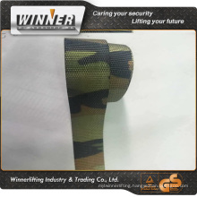 Green red black yellow polyester webbing strap