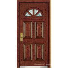 Porte blindée en bois d'acier de style turc (LTK-A01)