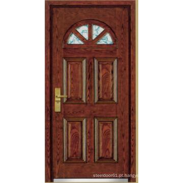 Porta blindada de madeira de aço estilo turco (LTK-A01)