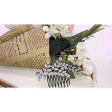 New leaf shape design zircon wedding  hair accessories hair comb