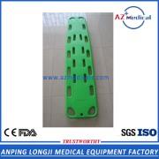 High strength plastic rescue stretcher spine board