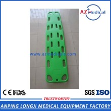 High strength plastic rescue stretcher spine board
