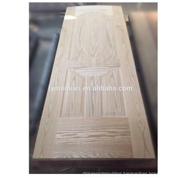Solid lumber door board skin moulded door skin Chinese Factory