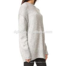 Personnalisé en gros O Neck manches longues plus chaud dernier design ladies pull