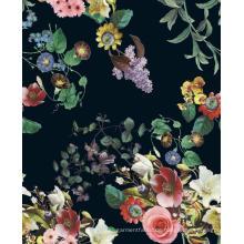 Flower Design Printed Polyester gewebte Kleidungsstück Stoff