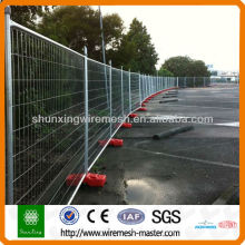 Galvanized temporary panel fence for construction/protection using