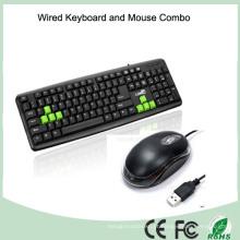 2016 Design de moda com teclado de computador ergonômico com fio (KB-1988C)