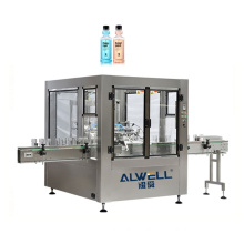 Straight Automatic 6-head mouthwash filling machine with conveyor PLC control