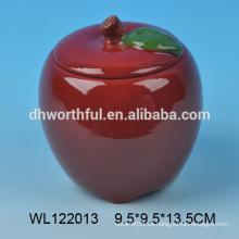 Envase de comida de cerámica en forma de manzana en alta calidad