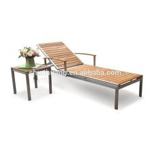 Outdoor beach aluminum furniture chairs wood sun lounger