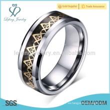 Anillo masónico del grabado de la vendimia, anillos masónicos del generoso logotipo