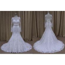 Robe de mariée à manches longues et grande taille 2016