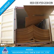 E1 Tipos de placa dura MDF liso de madeira MDF
