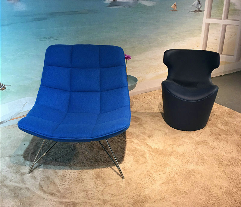 Chair di Jehs Laub Lounge in tessuto