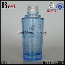 new arrived 30ml 1oz bule glass cosmetic lotion bottle for sale