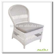 Audu White Wicker Europe Chair