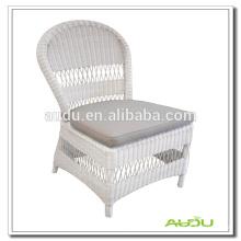 Audu White Wicker Europe Chair