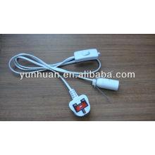 Cordon avec interrupteur câble d'alimentation