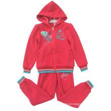 Terno do esporte do Kidsgirl do velo para a roupa Swg-130 das crianças ′ s