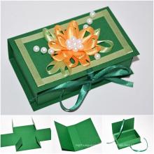 Caixas de jóias de papel de couro / caixa de jóias
