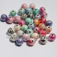 Autumn 8mm Plastic Ball Smooth Tiny beads