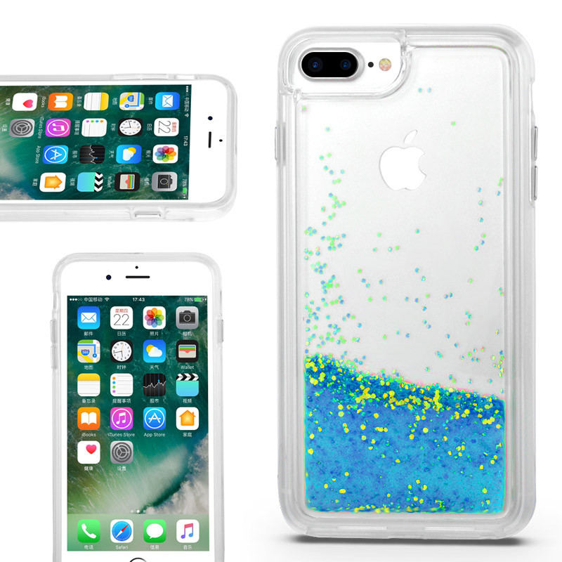 glitering sand case for iPhone