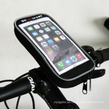 Bolsillo del teléfono para el montar a caballo de la bici puede tocar el paquete del Smartphone