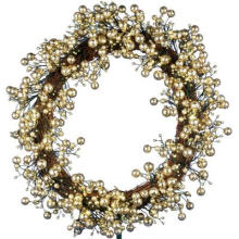 24 polegadas. Golden Starlite Creations Wreath with Batteris Operando 48 LEDs (MY255.258.00)