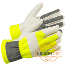 Reflective Gloves with Waterproof Function adopting Leather