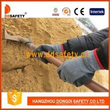 Вязаные Морщинка Латекс Покрытием Перчатки Безопасности Рабочие Перчатки Dkl336
