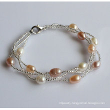 Fashion Hand Made Freshwater Pearl Bracelet (EB1535-1)