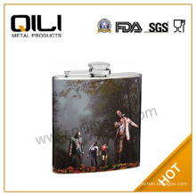 custom Halloween zombie hip flask