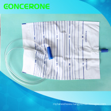 2000ml Disposable Urine Bag with Push Pull Valve