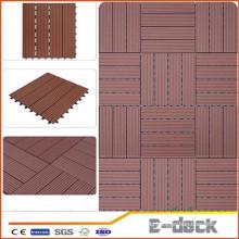300 * 300 * 22mm Fabrik Großhandel wasserdicht billig im Freien WPC Patio Decking Boden Terrasse Bord