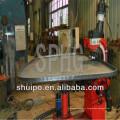 Machine de pliage de tête irrégulière sans modèle (machine de pressage d'extrémité de réservoir)