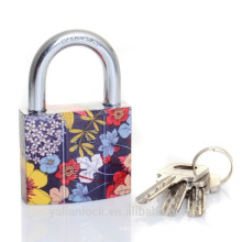 Flower Printed Cheap Iron Padlock
