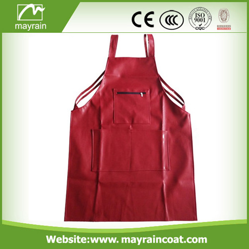 Red Color PU Apron