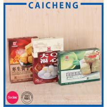 Изготовленные на заказ бумажные коробки для печенья конфеты упаковки пищевых продуктов
