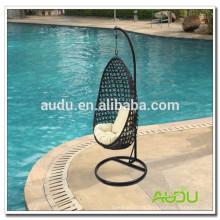 Audu Pátio Cadeira de balanço de jardim Rattan de uma pessoa