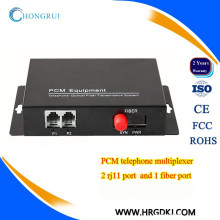 fxs / fxo zu faseroptischem Konverter 2 Kanal Telefon PCM-Multiplexer über Faseroptik