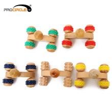 Massager de madeira da massagem nova de Acupoint das rodas do espinho do projeto