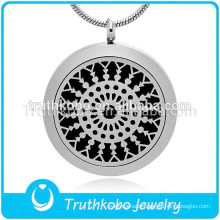Aromatherapy Jewelry Round Diffuser Pendant Necklace Shiny Gift for Essential Oil Pendant Jewelry