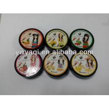 30pcs caja negra fruta fragancia esmalte de uñas almohadillas de removedor sin acetona de uñas toallitas